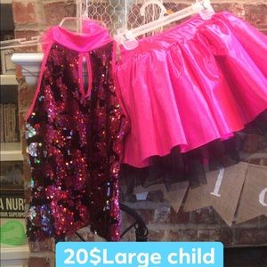 2 piece dance costume
